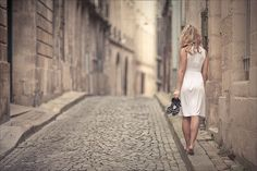 walking barefoot in white People Photography, Portrait Photography, Concept Photography, Blond, Walking Barefoot, Pretty Pictures, White Dress, Photoshoot, Serenity