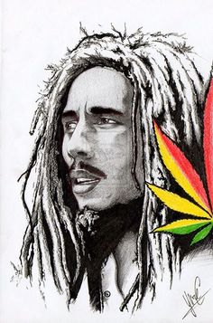 Bob Marley a touch of colour – Drawings – Home crafts Bob Marley Dibujo, Bob Marley Kunst, Arte Bob Marley, Reggae Bob Marley, Bob Marley Tattoos, Fotos Do Bob Marley, Reggae Art, Reggae Music, Rasta Art