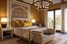 Arabian Bedroom, Mediterranean Bedroom, Mediterranean Design, Mediterranean Architecture, Morrocan Decor, Moroccan Lanterns, Moroccan Tiles, Moroccan Bedroom Decor, Moroccan Interiors
