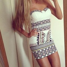 """loving this unique print...unfortunately the site linked doesn't take you to the dress :( But I like other ones. The """"lips don't lie"""" cocktail dress is fab!!"""