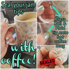 **WEDNESDAY WISDOM** Hold the tip of your nail and roll it against your hot coffee* for when you need a quick reseal of those peski little bits that sometimes lift and flick up. Brilliant!  #nailedit *Also works with Tea, Milo, DeCafe or any other hot beverage served in a mug! 😂 For more tips and tricks join my VIP Facebook page!
