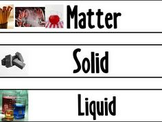 matter vocabulary cards