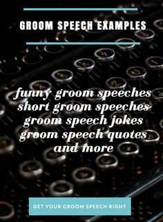 groom speech samples
