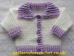 Ravelry: Baby crochet pattern Ribbed Cardigan pattern by Patternsfor Designs..free