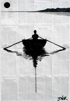 "Saatchi Online Artist: Loui Jover; Pen and Ink, Drawing ""a simple plan"" I've been wanting to try something like this."