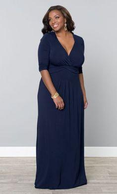 Plus Size Maxi Dress - Desert Rain Dressy Casual Long, In the Navy Plus Size Maxi Dresses, Plus Size Outfits, Curvy Fashion, Plus Size Fashion, Fashion 2016, Style Fashion, Moda Xl, Plus Sise, Look Plus Size