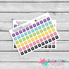 Laundry Icon Stickers / Planner Stickers / by InkyDinkPrinting