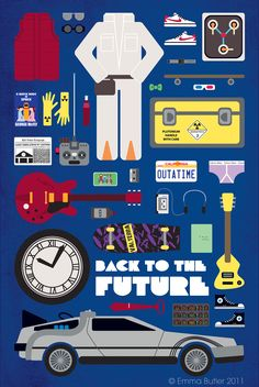 Alternative Movie Poster for Back to the Future by Emma Butler