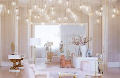 All Glossy and White with Silver, Gilding, and Glass, The Trina Turk Boutique in Los Angeles, Interior Design by Kelly Wearstler