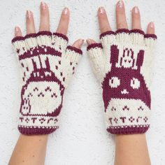 Totoro Fingerless Gloves  handknit from 100 by annawoolmagic, $45.00  the coolest things EVER  http://www.etsy.com/listing/116115684/totoro-fingerless-gloves-hand-knit-from?ref=sr_gallery_42&ga_search_query=totoro&ga_view_type=gallery&ga_ship_to=US&ga_search_type=all