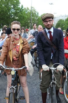 Best-dressed Cycle Chic couple