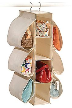 Ideas sobre almacenaje | Organizador de bolsos - DecoraHOY