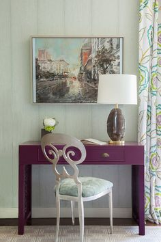 House of Turquoise: House of Ruby Interior Design | desk area