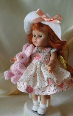 CHILDHOOD doll clothes with toy FIT Ginny Madam Alexander Muffie Pam Ginger