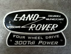 Vintage Land Rover rear badge - - found on ebay