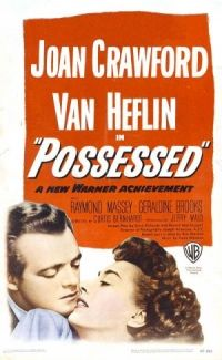 Possessed 1947 movie poster. Joan Crawford