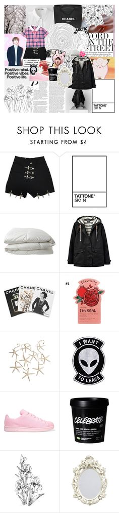 """""""now trust me, hold me once again so i can feel you, hold me"""" by pearliemoon ❤ liked on Polyvore featuring Chanel, Nimbus, Joules, Assouline Publishing, MONICA ROSE, Tony Moly, Hot Topic and adidas Originals"""