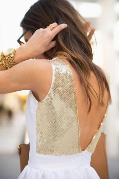 Sequins and Things in Camilyn Beth Ampi Dress