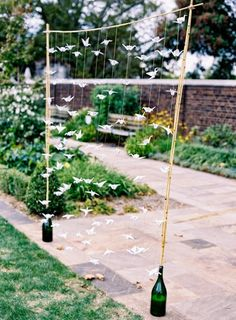 Nice way to put a paper courtain - Sueños de Novia: Garden Wedding!
