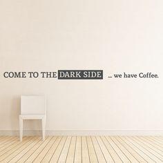 Wandtattoo - Dark Side Coffee