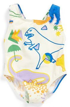Stella+McCartney+Kids+'Imogen'+One-Piece+Swimsuit+(Baby+Girls)+available+at+#Nordstrom