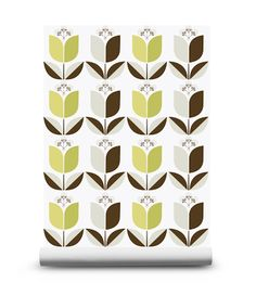 buy the isak tulip wallpaper online from Live Like the Boy along with a whole range of cool and quirky homewares Cool Patterns, Beautiful Patterns, Blue Tulips, Green Wallpaper, Wallpaper Ideas, Wallpaper Online, Blue Wallpapers, Designer Wallpaper, Scandinavian Design
