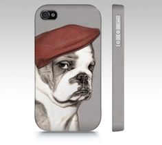 English bulldog phone case for iPhone 4/ 4S 5/ 5S by MimoCadeaux, $34.00