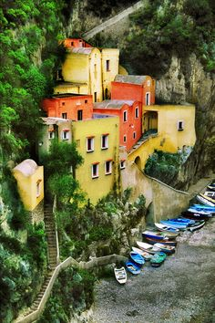 I want to go to Italy too. the way that building is put into the side of that mountain is awesome! and would make awesome black and white shots too! Costeria Amalfitano by John Galbo (Amalfi Coast, Italy) Places Around The World, Oh The Places You'll Go, Places To Travel, Places To Visit, Positano, Wonderful Places, Beautiful Places, Amazing Things, Rome