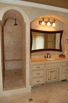 rustic bathroom hammered copper tub in front of a corner. Black Bedroom Furniture Sets. Home Design Ideas