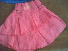 ropa para niña falda con pliegues y pretina con elastico