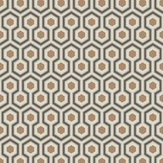 Enhance your interior with this Hicks' Hexagon wallpaper from Cole & Son. Part of the Contemporary Restyled collection it features a geometric hexagon pattern in warming grey & bronze hues. This wa...