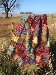 Patchwork Throw Rag Quilt Made to Order Handmade Rustic Quilt Homemade Quilt Primitive Decor Farmhouse Decor Crazy Quilting, Patchwork Quilting, Colchas Country, Colchas Quilt, Quilt Inspiration, Rag Quilt Patterns, Block Patterns, Rustic Quilts, Country Quilts