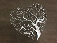 Tree Heart Metal Wall Art - Tree Metal Wall Art - Abstract Wall Decor - Tree Art - Metal Art - Metal Wall Decor - Wall Art - Tree of Life