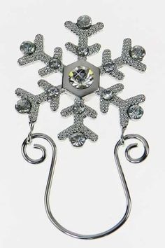 Snowflake Sparkle Magnetic Eyeglass Holder Pin (bestseller)