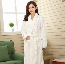 Autumn and winter coral fleece robe women s thickening medium-long female  flannel sleepwear long- 17cd4993d
