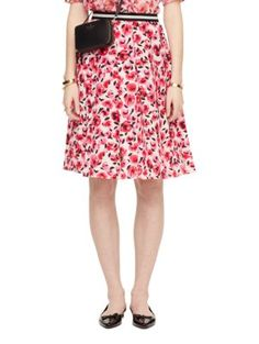 mini rose pleated skirt - kate spade new york