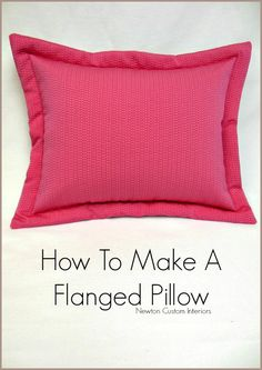 How To Make A Flanged Pillow 2019 Learn how to make a flanged pillow with this detailed step-by-step tutorial which includes video! You can make your own custom bedding pillows! The post How To Make A Flanged Pillow 2019 appeared first on Pillow Diy. Easy Sewing Projects, Sewing Projects For Beginners, Sewing Hacks, Sewing Tutorials, Sewing Ideas, Diy Projects, Sewing Lessons, Sewing Tips, Sewing Crafts