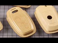 Leatherworking——Handmade carkey case for BMW/Porsche/Mercedes/Audi/Rover Sewing Leather, Leather Craft, Tan Leather, Mercedes Accessories, Porsche, Leather Key Case, Bmw, Audi Cars, Car Keys