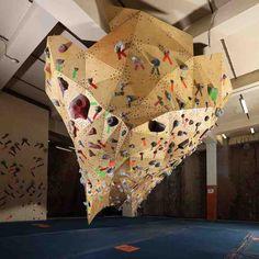Amazing rock climbing gym in Calgary! Rock Climbing Gym, Climbing Wall, Workout Stations, Bouldering Wall, Gym Design, Calgary, Playroom, Amazing, Awesome