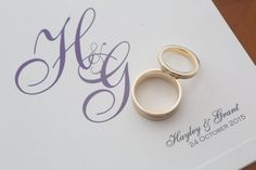 Monogram wedding invitation #fineinvitations #weddingstationerysydney