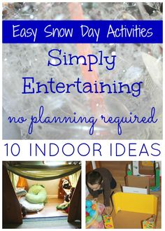 Snow days call for fun and easy winter activities that are great for indoor play. Get the kids moving and learning with our easy snow day winter activities!
