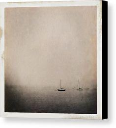 Sailboats Canvas Print featuring the photograph Sailboats by Mauricio Jimenez