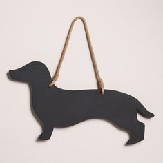 One of my favorite discoveries at WorldMarket.com: Dachshund Chalkboard