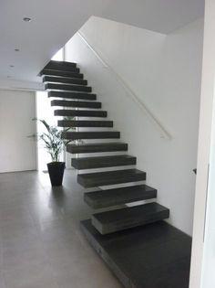 Moderne Treppe aus Beton * freies Wohndesign * Harr Beton Design