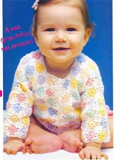 Kellen Amado: CASAQUINHO INFANTIL DE CROCHÊ