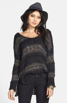 Free People Stripe High/Low Pullover   Nordstrom