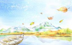 Art Drawing : Romantic Scene of the Seasons  1920*1200   Wallpaper 21