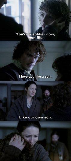 Outlander Season 2 Finale. Jamie, Claire and Fergus.