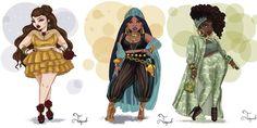 Disney Princesses With Curvy Bodies Look Stunning AF - Cosmopolitan.com