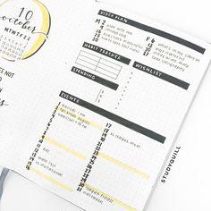 wingardium leviosa — october bullet journal set-up! watch my plan with...